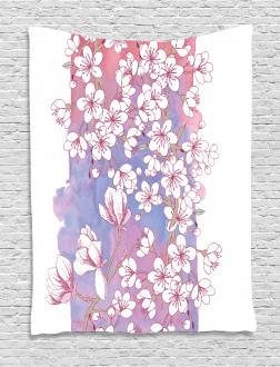 Japanese Spring Bloom Tapestry