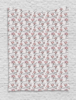 Linear Drawn Blooming Tapestry