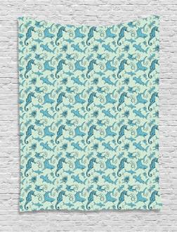 Cartoon Octopus Tapestry
