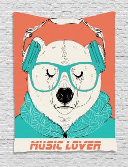 Music Lover Animal Tapestry