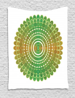 Circle Scale Pattern Tapestry