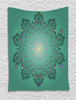 Ethnic Flower Bloom Tapestry