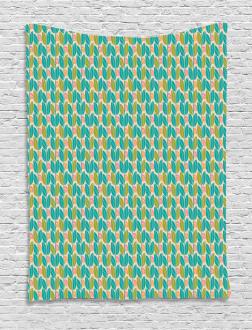 Geometric Botany Pattern Tapestry