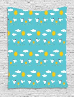 Happy Funny Farm Morning Tapestry