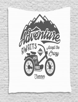 Mountains Bike Tapestry