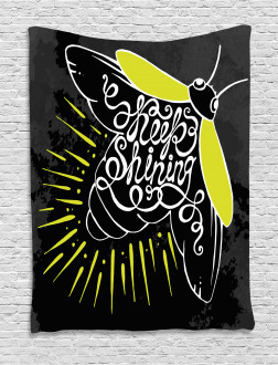 Keep Shining Calligraphy Tapestry