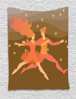 Fire Couple in the Space Tapestry