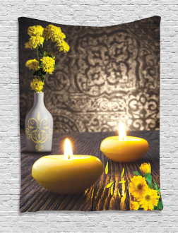 Oriental Meditative Candles Tapestry
