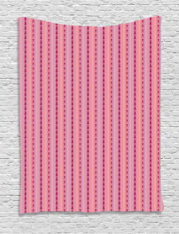 Pinkish Triangles Figures Tapestry
