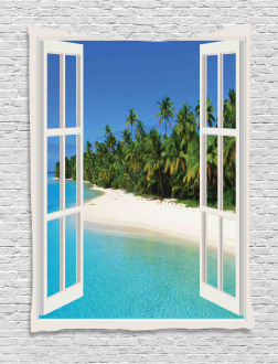 Paradise Island Palm Tree Tapestry