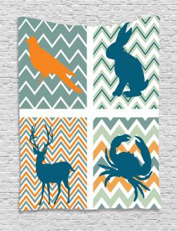 Crab Bunny Bird Baby Tapestry