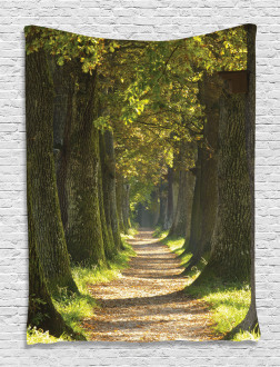 Alley with Oak Trees Tapestry