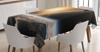Moons Universe Earth Tablecloth