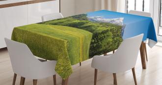 Bavarian Alps Village Tablecloth