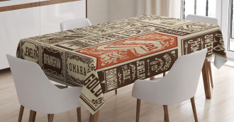 Pack Old Advertising Tablecloth