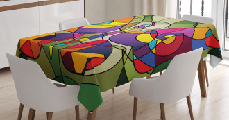 Abstract Butterfly Art Tablecloth