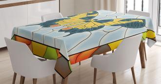 Frame Spring Garden Tablecloth