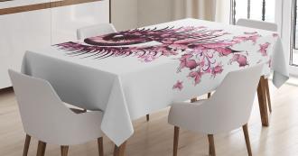 Fairy Woman Eyelashes Tablecloth
