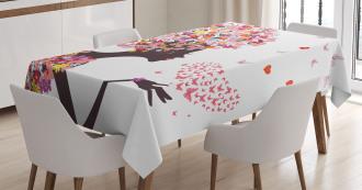 Butterflies Blossoms Tablecloth