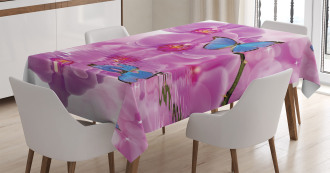 Orchid Bloom on Water Tablecloth