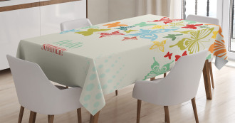 Butterfly Dots Timber Tablecloth
