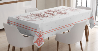 Motivational Attitude Art Tablecloth