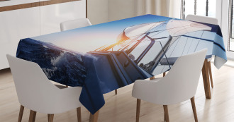 Sail Boat Adventure Sea Tablecloth
