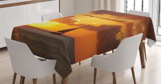 Ocean Boat Freedom Theme Tablecloth