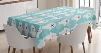 White Baby Seals Ocean Tablecloth