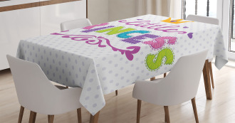 Little Princess Quote Tablecloth