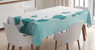 Hearts Valentines Tablecloth