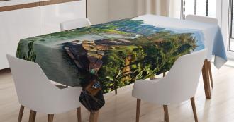 Tropic Thai Village Tablecloth