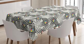 Polkadots Simple Classic Tablecloth