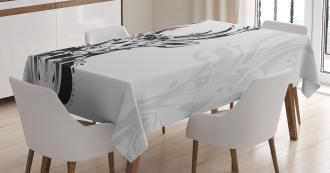 Tribal Deer Shadow Art Tablecloth