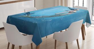 Mermaid Myth Creature Tablecloth