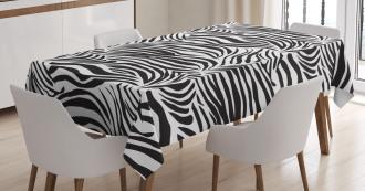 Wild Zebra Lines Tablecloth