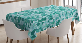 Triangle Mosaic Shape Tablecloth