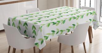 Vivid Watercolor Swirls Tablecloth