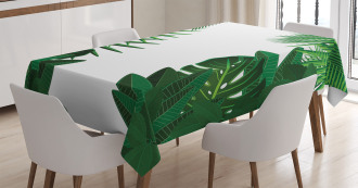 Tropical Exotic Palms Tablecloth