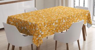Abstract Polka Dots Art Tablecloth