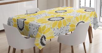 Sun Flower Nature Art Tablecloth