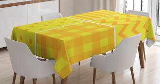 Retro Patterns Zigzag Tablecloth