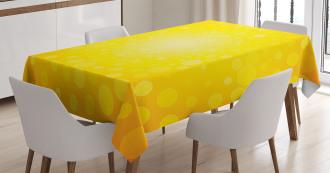 Sunrise Polka Abstract Tablecloth