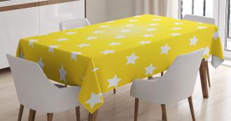 Vibrant Stars Fun Retro Tablecloth