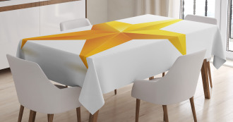 Single Yellow Ombre Star Tablecloth