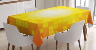 Retro Pixel Art Squares Tablecloth