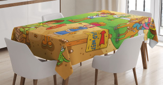 Wild West Cowboy Kids Tablecloth