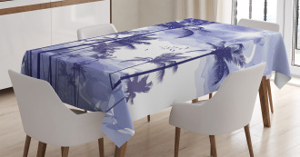 Tropic Palm Tree Sunny Day Tablecloth