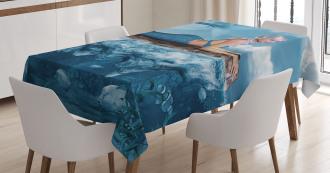 Mythical Sea Goddess Tablecloth