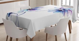 Retro Flowers Tablecloth